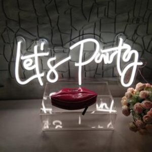 custom neon sign for parties by super neon sabra in lebanon, beirut