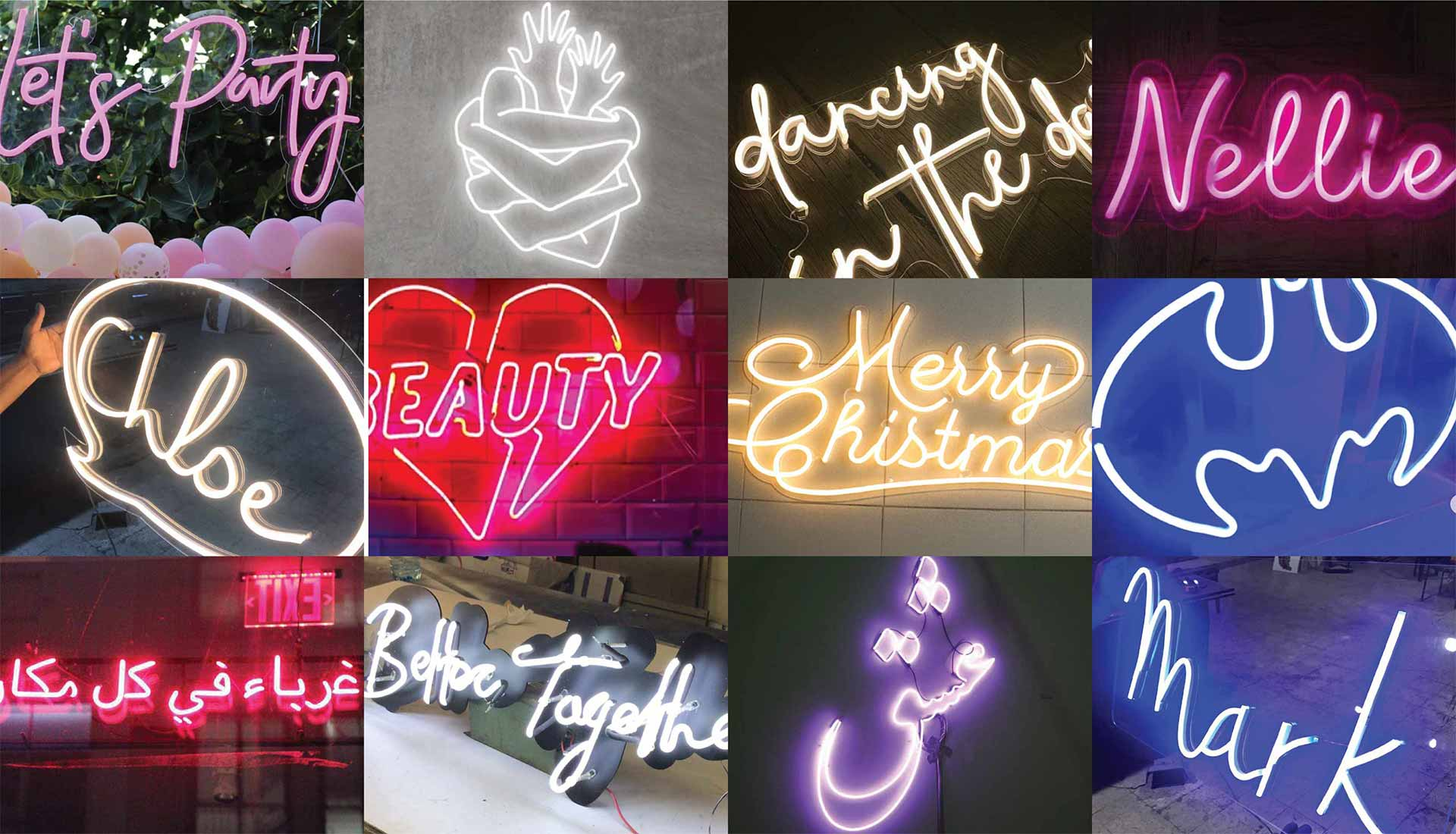 led neon signs customized your sign by super neon sabra in lebanon, beirut.